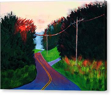 4th Of July Sunset Canvas Print by Laurie Breton