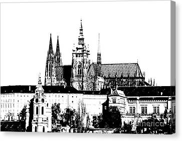 Cathedral Of St Vitus Canvas Print by Michal Boubin
