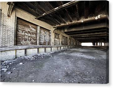 Detroit Abandoned Building Canvas Print by Joe Gee