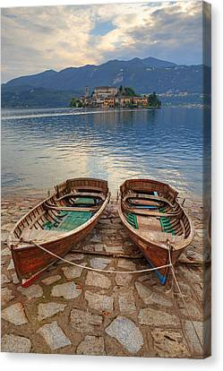 Island Of San Giulio Canvas Print by Joana Kruse