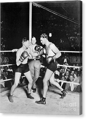 Jack Dempsey (1895-1983) Canvas Print by Granger