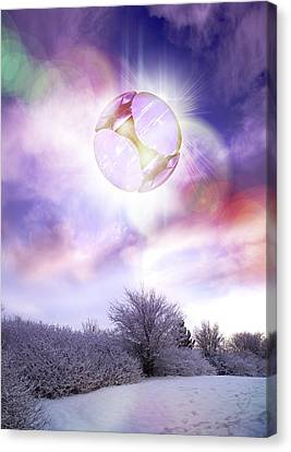Ufo, Artwork Canvas Print by Victor Habbick Visions