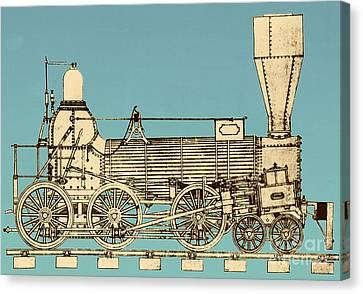 19th Century Locomotive Canvas Print by Omikron