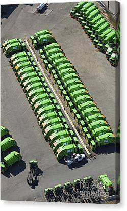 Garbage Truck Fleet Canvas Print by Don Mason