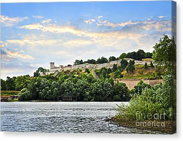 Kalemegdan Fortress In Belgrade Canvas Print by Elena Elisseeva