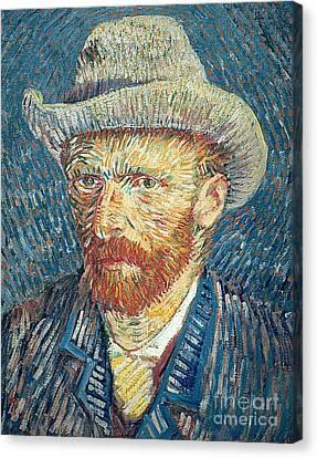 Self Portrait Canvas Print by Vincent Van Gogh