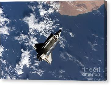 Space Shuttle Atlantis Canvas Print by Stocktrek Images