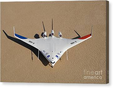 X-48b Blended Wing Body Canvas Print by Nasa