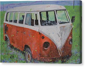 63 Vw Type 2  Bus Canvas Print by Les Katt