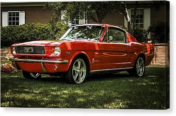'66 Mustang Canvas Print by Douglas Pittman