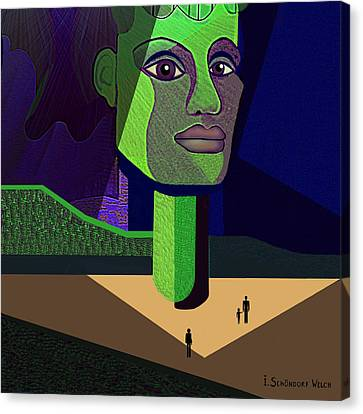 671 -   Mighty Diva Canvas Print by Irmgard Schoendorf Welch