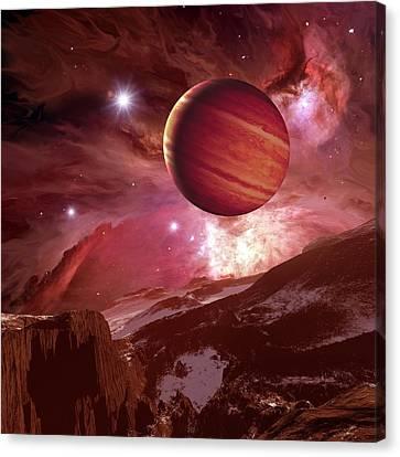 Alien Landscape, Artwork Canvas Print by Detlev Van Ravenswaay