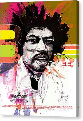Jimi 333 Canvas Print by Bobby LeVangie
