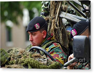 Members Of A Recce Or Scout Team Canvas Print by Luc De Jaeger