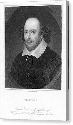 William Shakespeare Canvas Print by Granger