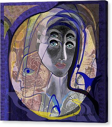 743 - Blue Eyes Canvas Print by Irmgard Schoendorf Welch