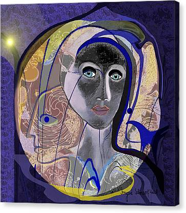 744 - Woman Canvas Print by Irmgard Schoendorf Welch