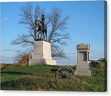 Gettysburg Three Days Battle   Canvas Print by Valia Bradshaw