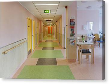 The Nursing Centre A Building In P�rnu Canvas Print by Jaak Nilson