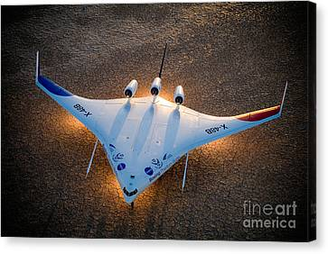 X48b Blended Wing Body Canvas Print by Nasa