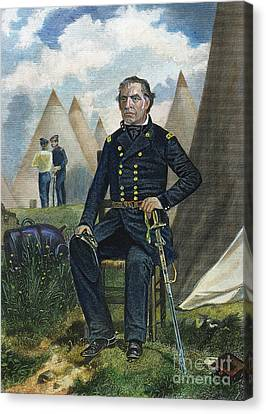 Zachary Taylor (1784-1850) Canvas Print by Granger
