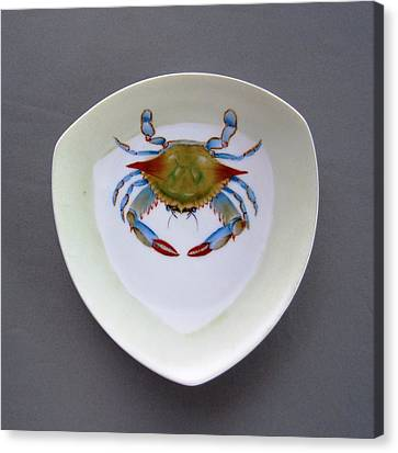 866 1 Part Of  Crab Set 1 Canvas Print by Wilma Manhardt