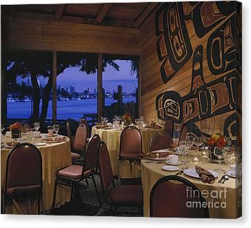 Restaurant Canvas Print by Robert Pisano