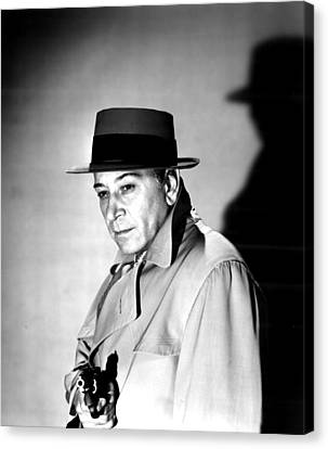 A Bullet For Joey, George Raft, 1955 Canvas Print by Everett