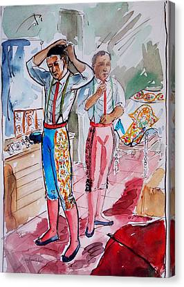 A Bullfighter's Dressing Room Canvas Print by Bill Joseph  Markowski