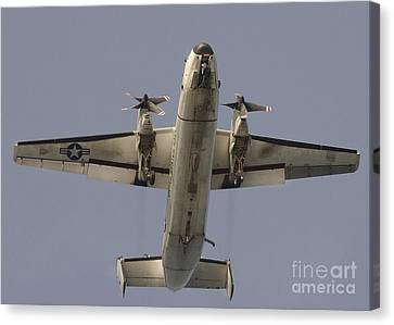 A C-2 Greyhound In Flight Canvas Print by Stocktrek Images