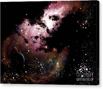 A Cluster Of Bright Young Stars Tear Canvas Print by Brian Christensen