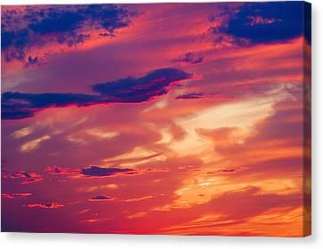A Colorful Sky Canvas Print by Carson Ganci