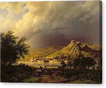 A Coming Storm Canvas Print by Barend Cornelis Koekkoek