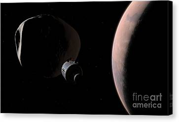 A Command Module Begins A Close Canvas Print by Walter Myers