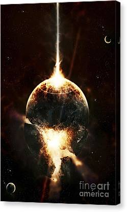 A Concentrated Gamma Ray Strikes Canvas Print by Tomasz Dabrowski