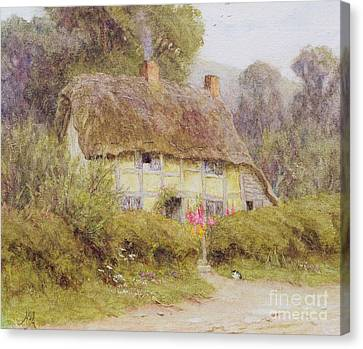 A Country Cottage Canvas Print by Helen Allingham