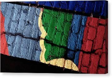 A Crack Runs Through It - Urban Rainbow Canvas Print by Steven Milner