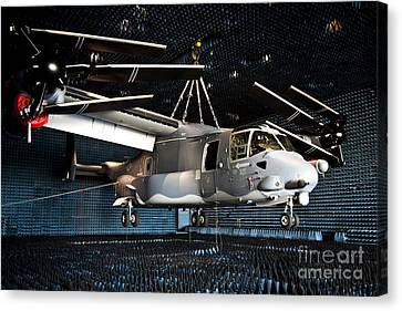 A Cv-22 Osprey Hangs In A Anechoic Canvas Print by Stocktrek Images