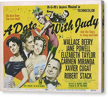 A Date With Judy, Elizabeth Taylor Canvas Print by Everett