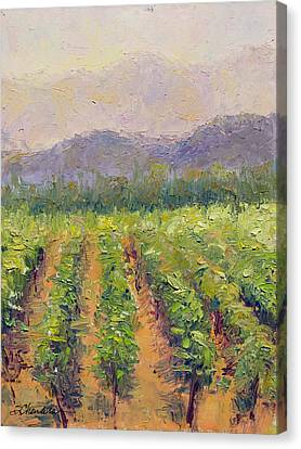 A Day At The Vineyard Canvas Print by Sandra Charlebois
