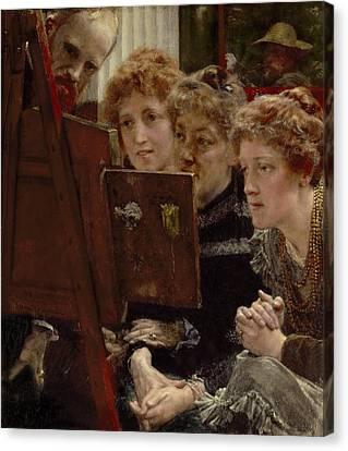 A Family Group Canvas Print by Sir Lawrence Alma-Tadema