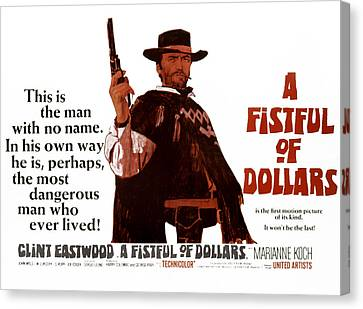 A Fistful Of Dollars Aka Per Un Pugno Canvas Print by Everett
