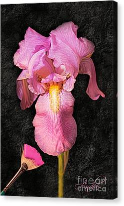 A Flora Is Natures Painting Canvas Print by Andee Design