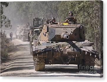 A German Designed Leopard As1 Gun Tank Canvas Print by Stocktrek Images
