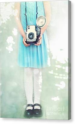 A Girl And Her Camera Canvas Print by Stephanie Frey