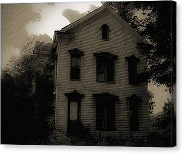A Haunting Canvas Print by DigiArt Diaries by Vicky B Fuller