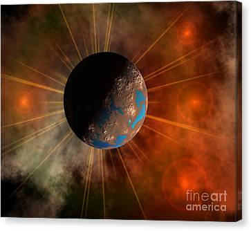 A Hypothetical Alien World With Oceans Canvas Print by Mark Stevenson