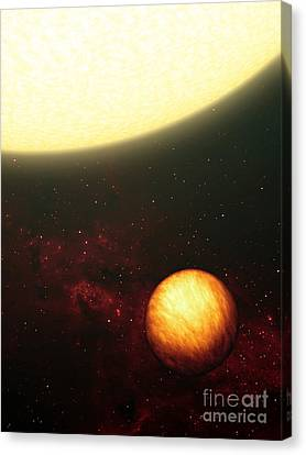 A Jupiter-like Planet Soaking Canvas Print by Stocktrek Images
