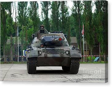 A Leopard 1a5 Mbt Of The Belgian Army Canvas Print by Luc De Jaeger