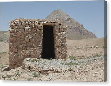 A Local Afghan Hut In The Mountains Canvas Print by Everett